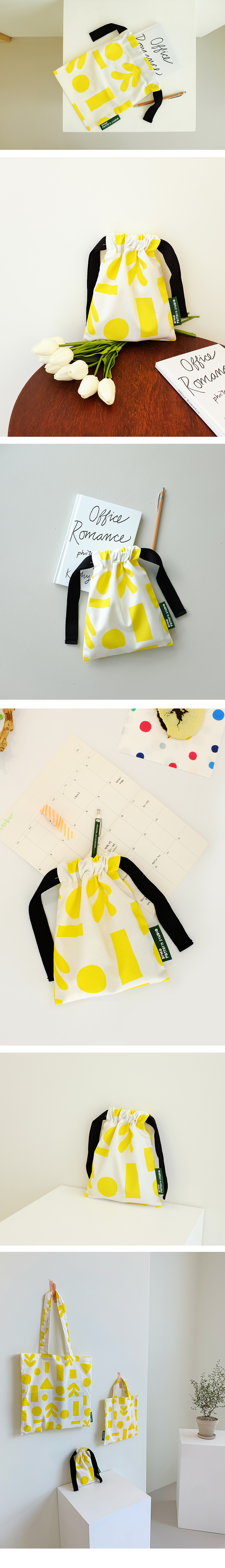 KEEERI x BFMA 의미심장 패턴 스트링 파우치 - 벌룬프렌즈, 8,450원, 캔버스/에코백, 에코백